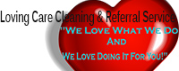 Website for Loving Care Cleaning & Referral Service