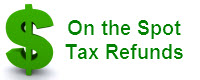 Website for On the Spot Tax Refunds