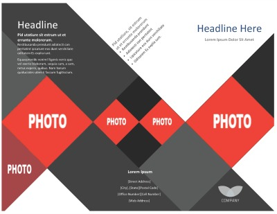 Template TriFold Brochure - Two page brochure template