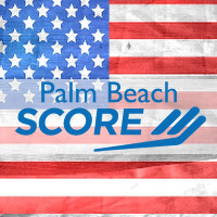 Palm Beach SCORE - Veterans Day Logo - Stars & Stripes