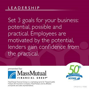 Business Leadership Meme about Setting 3 Goals