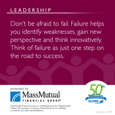 MassMutual Leadership Meme about not being afraid to fail