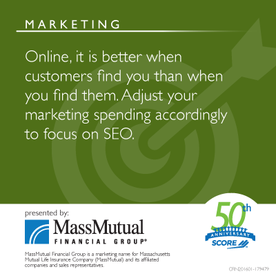 Marketing Tip - Online, it is better when customers find you than when you find them.