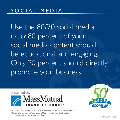 Use the 80/20 social media ratio