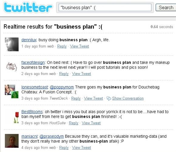 business plan - negative sentiment