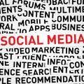 Social Media Red Text