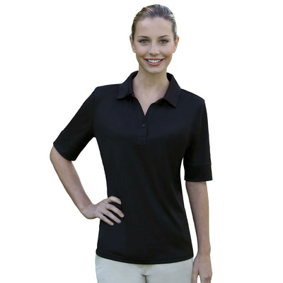 Ladies' Solid Jersey Polo