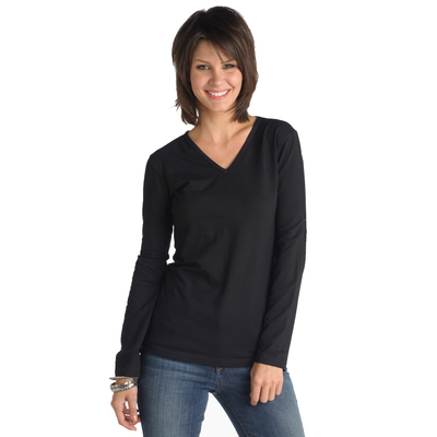 Misses V-Neck Long Sleeve