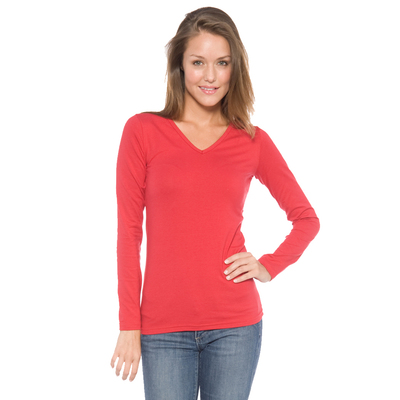 V-Neck Long Sleeve Juniors