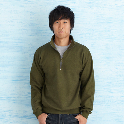 Heavy Blend Vintage Classic Adult 14 Zip Cadet Collar Sweatshirt