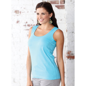 LATs 3590 Ladies' Scoop Tank