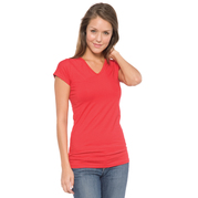 In Your Face A17 Junior V-Neck Cap Sleeve Tee