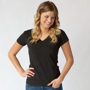 Tultex 0214  Ladies' Fine Jersey V-Neck Tee