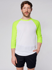 American Apparel BB453 34 Sleeve Raglan T-Shirt