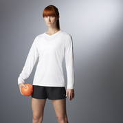New Balance 7119L NDurance Ladies' Athletic Long Sleeve V-Neck T-shirt