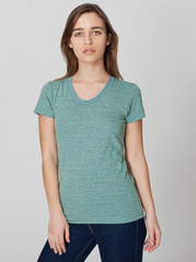 American Apparel TR301 Women's Tri-Blend Short Sleeve Track Tee
