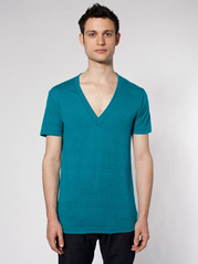 American Apparel TR456 Unisex Tri-Blend Short Sleeve Deep V