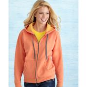 Gildan 18700FL Heavy Blend Vintage Classic Missy Fit Full Zip Hooded Sweatshirt