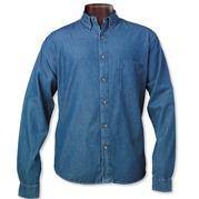 Sierra Pacific 3211 Men's Long Sleeve Denim Shirt