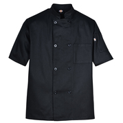 Dickies Occupational DCP124 SHORT SLEEVE 8-BUTTON CHEF COAT