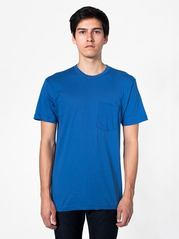 American Apparel 2406 Fine Jersey Pocket Tee