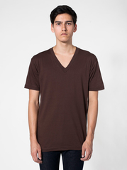 American Apparel 2456 Fine Jersey Short Sleeve V-Neck Tee