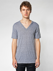 American Apparel TR461 Tri-Blend V-Neck Tee