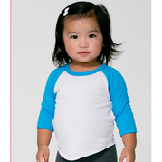 American Apparel BB053 Infant 34 Sleeve Raglan
