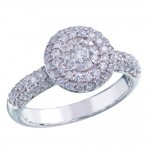 Memoire Pave Diamond Ring