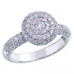 Memoire Pave Diamond Bouquet Ring