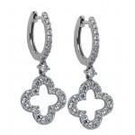 1.12 Carat Diamond Clover Earrings