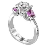 Claude Thibaudeau Platinum or 18Kt White Engagement Ring