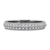 Precision Set Full Round Diamond Bead Set Beveled Band .75CT