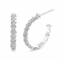 Coast Diamond Diamond Hoop Earrings - EC10001