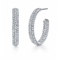 Coast Diamond Diamond Hoop Earrings - EC5119