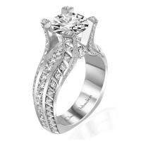 Claude Thibaudeau La Royale Platinum Sidestone Ring MODPLT-10047-MP