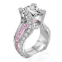Claude Thibaudeau La Royale Platinum Sidestone Ring MODPLT-1979-MPR