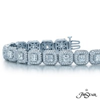 JB Star/Jewels By Star Multi-Row Diamond Bracelet