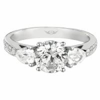 Martin Flyer FlyerFit Bead Set Engagement Ring