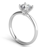 Sasha Primak Knife-Edge 4-Prong Solitaire Engagement Ring