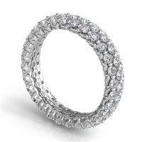 Sasha Primak Royal Prong Three Row Eternity Band