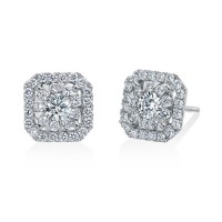 Memoire Asscher Diamond Earrings