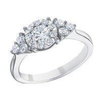 Memoire Classic Trillion Diamond Engagement Ring MBQ01ER-0075TW