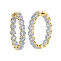 Memoire Diamond Hoop Earrings
