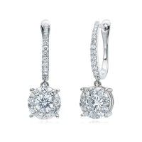Memoire Classic Four Prong Diamond Stud Earrings
