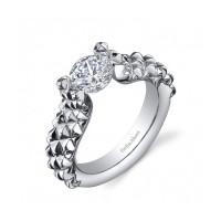 Gelin Abaci 14k White Gold Diamond Engagement Ring TR-249