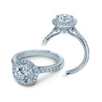 Verragio Halo Prong-Set Diamond Engagement Ring