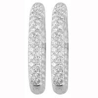 3.0 Carat Diamond Hoop Earrings