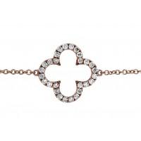 1.30 Carat Diamond Clover Bracelet