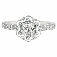 Martin Flyer Our Destiny Our Dreams Halo Engagement Ring DERM12RDQ-F-5.7RD